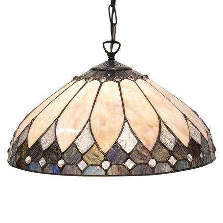 Hanglamp Tiffany ø 40 cm E27/max 1*60W Meerkleurig | 5LL-5986 | Clayre & Eef