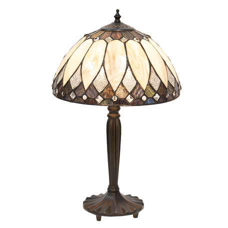 Tafellamp Tiffany ø 30*46 cm E27/max 1*60W Meerkleurig | 5LL-5987 | Clayre & Eef