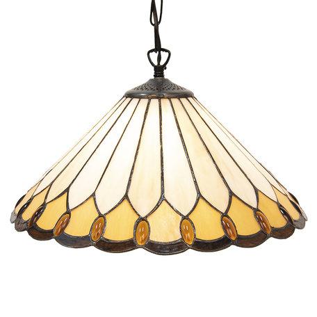 Hanglamp Tiffany ø 40*22 cm E27/max 1*60W Meerkleurig | 5LL-5989 | Clayre & Eef