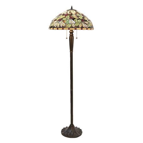Vloerlamp Tiffany ø 51*157 cm E27/max 2*60W Meerkleurig | 5LL-5990 | Clayre & Eef