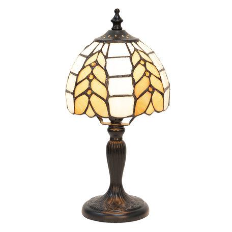 Tafellamp Tiffany ø 14*29 cm E14/max 1*40W Meerkleurig | 5LL-5992 | Clayre & Eef