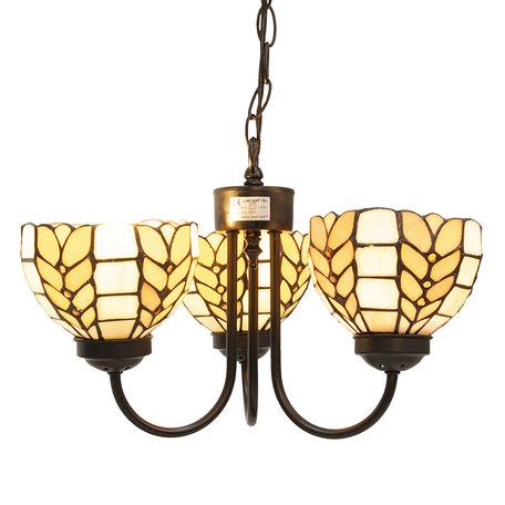 Hanglamp Tiffany ø 39*125 cm E14/max 3*40W Meerkleurig | 5LL-5993 | Clayre & Eef