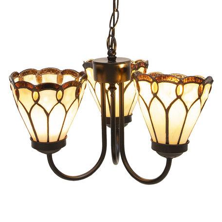 Hanglamp Tiffany ø 39*125 cm E14/max 3*40W Meerkleurig | 5LL-5996 | Clayre & Eef