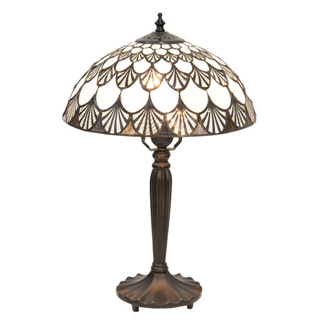 Tafellamp Tiffany ø 31*46 cm E27/max 1*60W Meerkleurig | 5LL-5998 | Clayre & Eef