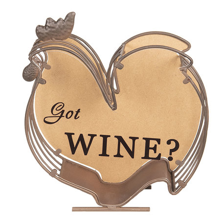 Wijnkurk houder 23*9*26 cm Bruin | 64293 | Clayre & Eef