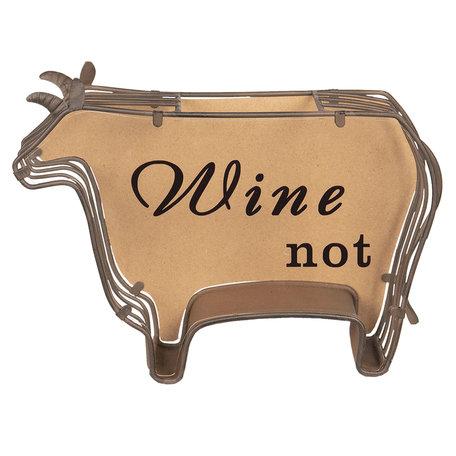 Wijnkurk houder 29*9*20 cm Bruin | 64294 | Clayre & Eef