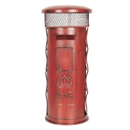 Flessenhouder met kurk houder 22*22*51 cm Rood | 6Y3375 | Clayre & Eef