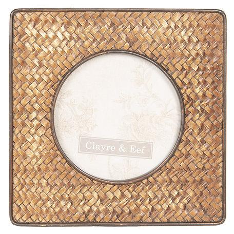 Fotolijst 16*2*16 cm / 10*10 cm Goudkleurig | 2F0612 | Clayre & Eef