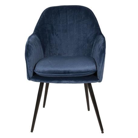 Stoel 59*58*86 cm Blauw | 50347BL | Clayre & Eef