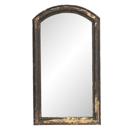 Spiegel 33*3*59 cm Zwart   52S176   Clayre & Eef