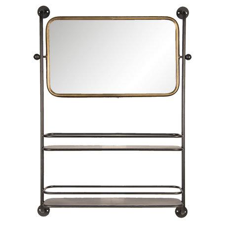 Spiegel met schap 61*14*85 cm Bruin   52S179   Clayre & Eef