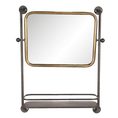 Spiegel met schap 49*14*64 cm Bruin   52S180   Clayre & Eef