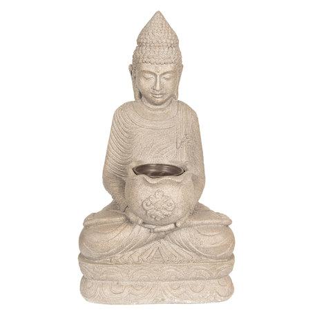 Decoratie Buddha 28*20*50 cm Grijs | 5PR0055 | Clayre & Eef