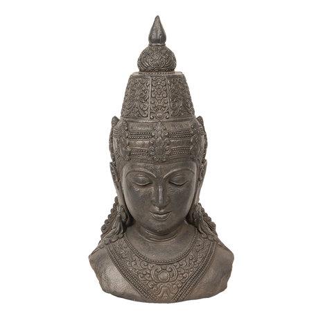 Decoratie Buddha hoofd 40*29*71 cm Grijs | 5PR0057 | Clayre & Eef