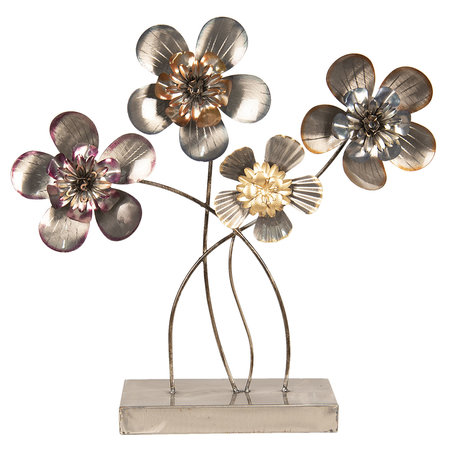 Decoratie bloemen 44*11*43 cm Grijs | 5Y3466 | Clayre & Eef