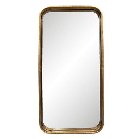 Spiegel 28*3*56 cm Goudkleurig   62S153   Clayre & Eef