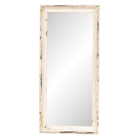 Spiegel 24*4*57 cm Wit | 62S167 | Clayre & Eef