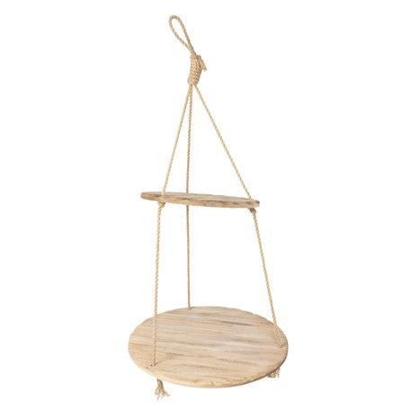 Hangend rek hout ø 56*110 cm Bruin | 6H1782 | Clayre & Eef