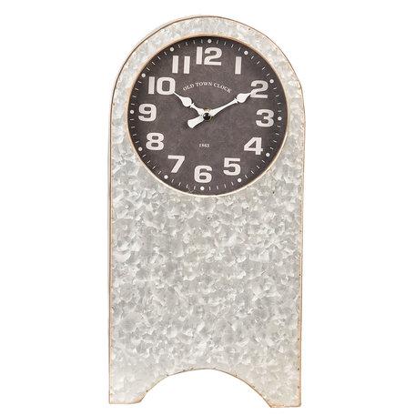 Tafelklok 18*10*36 cm / 1*AA Grijs | 6KL0563 | Clayre & Eef