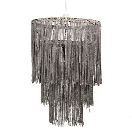 Hanglamp ø 35*45 cm E27/max 1*60W Grijs | 6LMP631 | Clayre & Eef