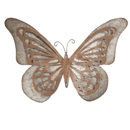 Wanddecoratie vlinder 49*7*35 cm Groen | 6Y3474 | Clayre & Eef