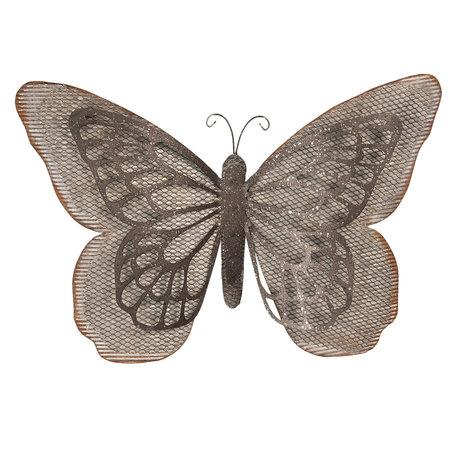 Wanddecoratie vlinder 55*8*35 cm Bruin | 6Y3475 | Clayre & Eef