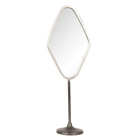 Spiegel 14*9*43 cm Zilverkleurig | 62S169 | Clayre & Eef