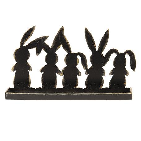 Decoratie konijnen 29*6*16 cm Bruin | 64332 | Clayre & Eef