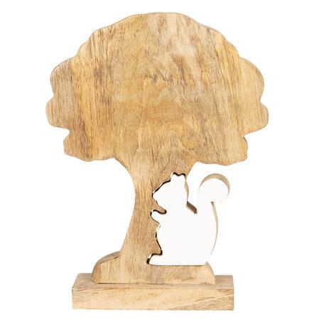 Decoratie boom met eekhoorn 22*17*5 cm Bruin | 6H1773M | Clayre & Eef