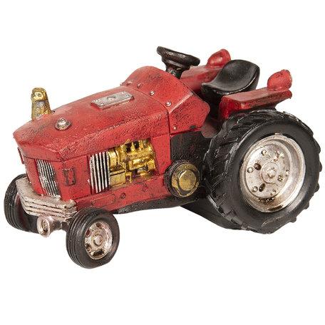 Decoratie tractor 14*9*9 cm Rood | 6PR2530 | Clayre & Eef