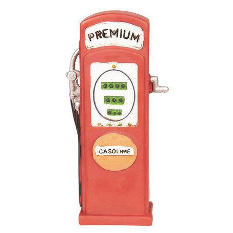 Decoratie benzinepomp 9*4*18 cm Rood   6PR2532   Clayre & Eef