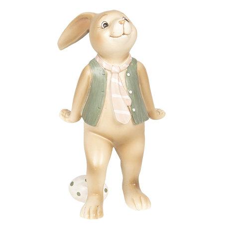 Decoratie konijn jongen 9*7*15 cm Meerkleurig | 6PR2628 | Clayre & Eef
