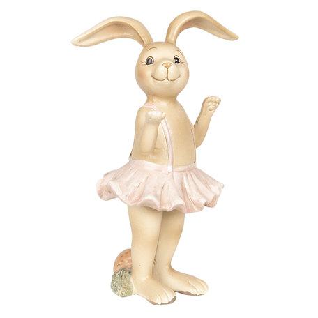 Decoratie konijn meisje 7*6*14 cm Roze | 6PR2630 | Clayre & Eef