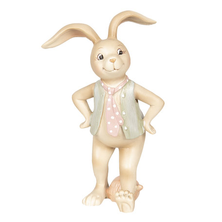 Decoratie konijn jongen 9*7*15 cm Meerkleurig | 6PR2631 | Clayre & Eef