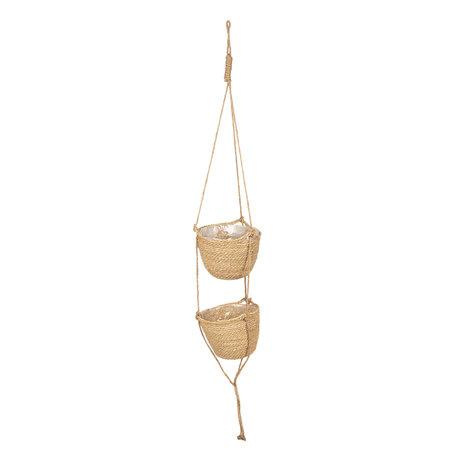 Manden hangend verticaal ø 24*160 cm Natuur | 6RO0456 | Clayre & Eef