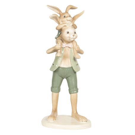 Decoratie konijn 10*10*25 cm Multi | 6PR2637 | Clayre & Eef