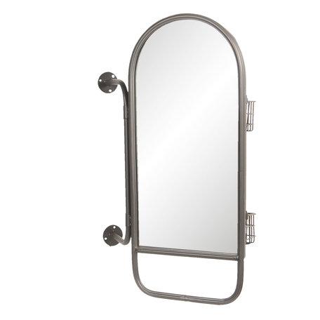 Spiegel met manden 40*14*62 cm Zwart   52S167   Clayre & Eef