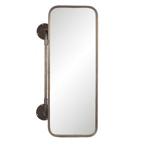 Spiegel met manden 48*21*80 cm Zwart   52S168   Clayre & Eef