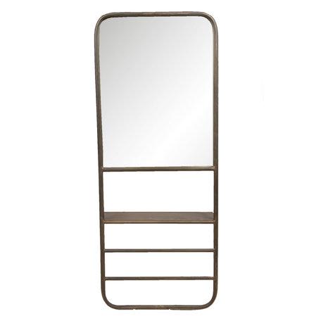 Spiegel met schap 40*14*100 cm Zwart   52S170   Clayre & Eef