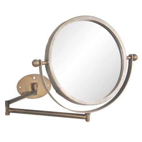 Draaibare spiegel met muurbevestiging 37*2*32 cm Bruin   62S163   Clayre & Eef