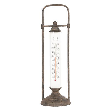 Thermometer 15*8*57 cm Zwart | 64307 | Clayre & Eef