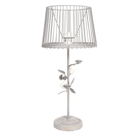 Tafellamp ø 25*56 cm E27/max 1*60W Grijs | 6LMC0007 | Clayre & Eef