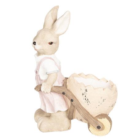 Decoratie konijn 34*22*49 cm Roze | 6TE0258 | Clayre & Eef