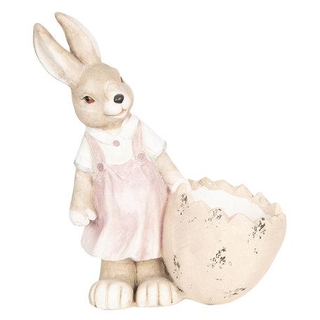 Decoratie konijn 41*20*48 cm Roze | 6TE0262 | Clayre & Eef
