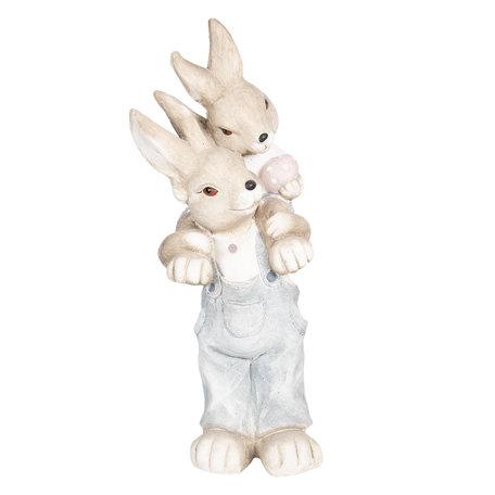 Decoratie konijn 23*21*56 cm Bruin | 6TE0263 | Clayre & Eef