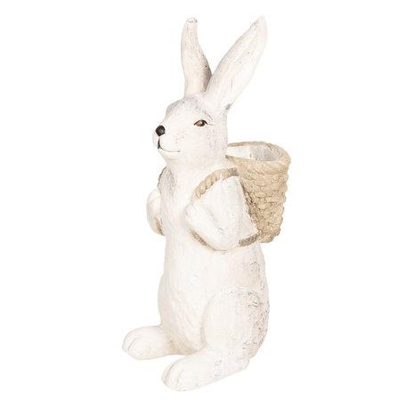 Decoratie konijn 22*16*46 cm Grijs | 6TE0264 | Clayre & Eef