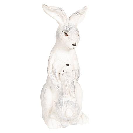 Decoratie konijn 23*16*41 cm Grijs | 6TE0265 | Clayre & Eef