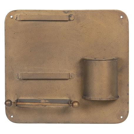 Wandrek 30*5*28 cm Bruin | 6Y3401 | Clayre & Eef