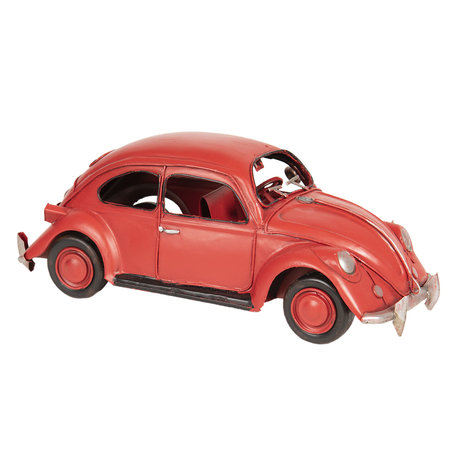 VW kever model auto licentie 29*10*9 cm Rood | 6Y3432 | Clayre & Eef