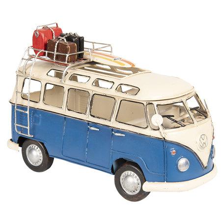 VW bus model licentie 26*12*17 cm Blauw | 6Y3433 | Clayre & Eef